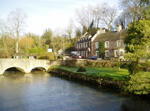 The wonderful village of bibury featuring arlington row of cottages
